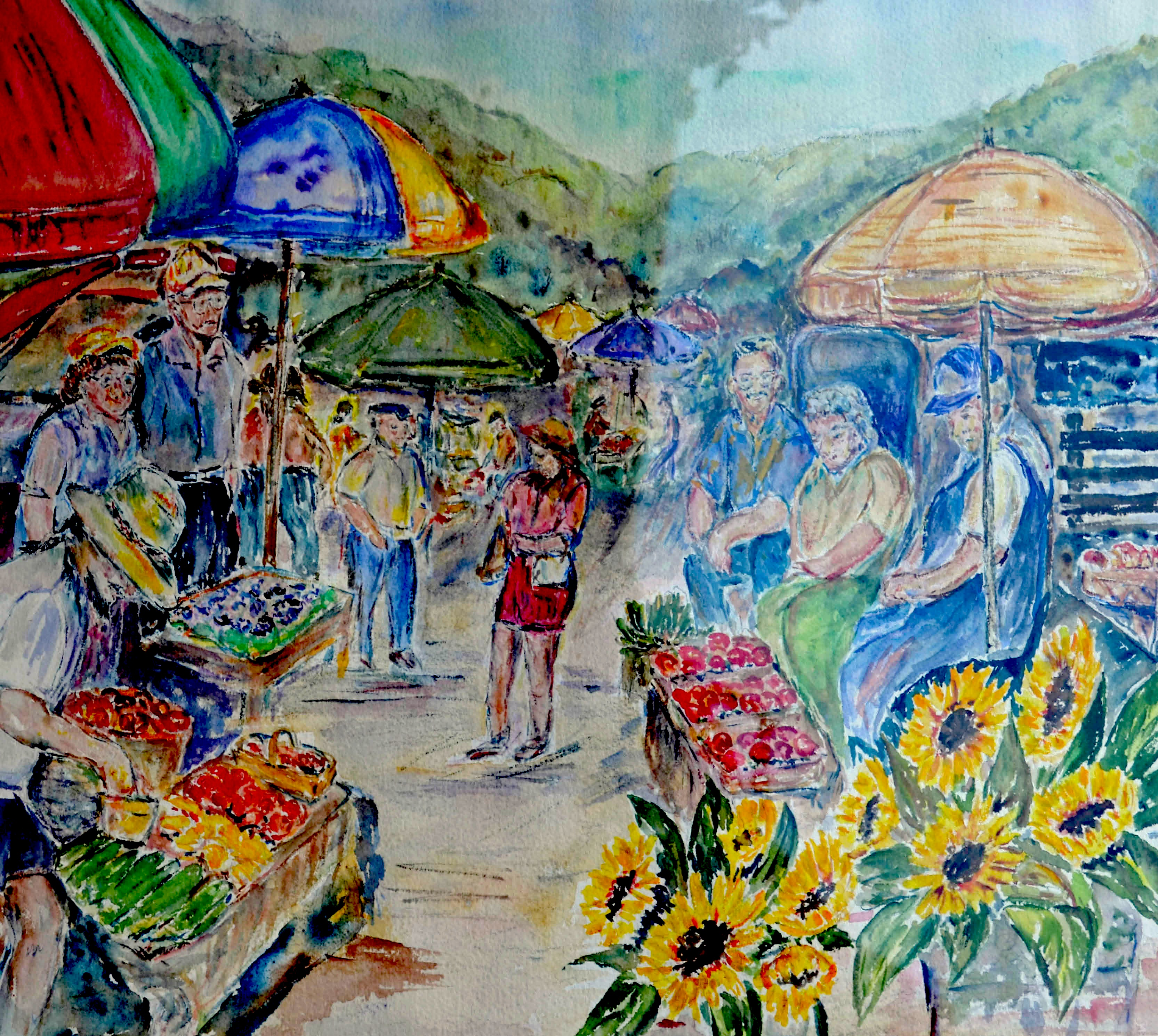 Mary_Jacobs_Market Day_Watercolor