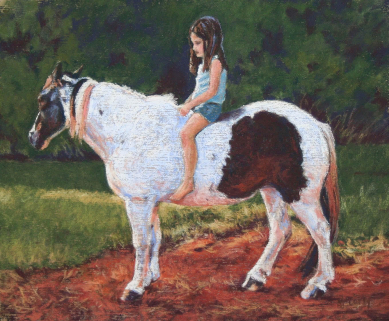 Bonnie McCarty. Trust. soft pastel. 11x14 framed.   400
