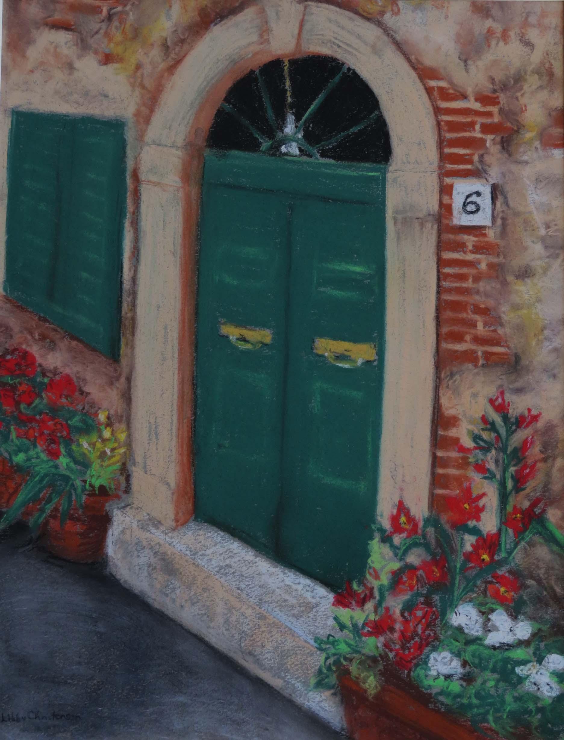 San Marino Doorway by Libby J   Christensen nfs