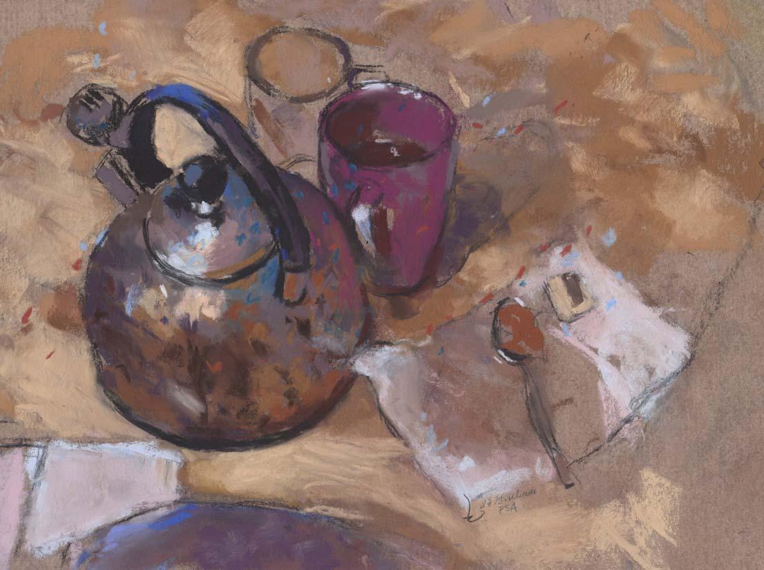 Giuliani, Adrian_Tea Kettle with Plum Mug_$500