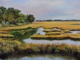 D. Alexander, Pastel,  'Folly Beach Marshland'