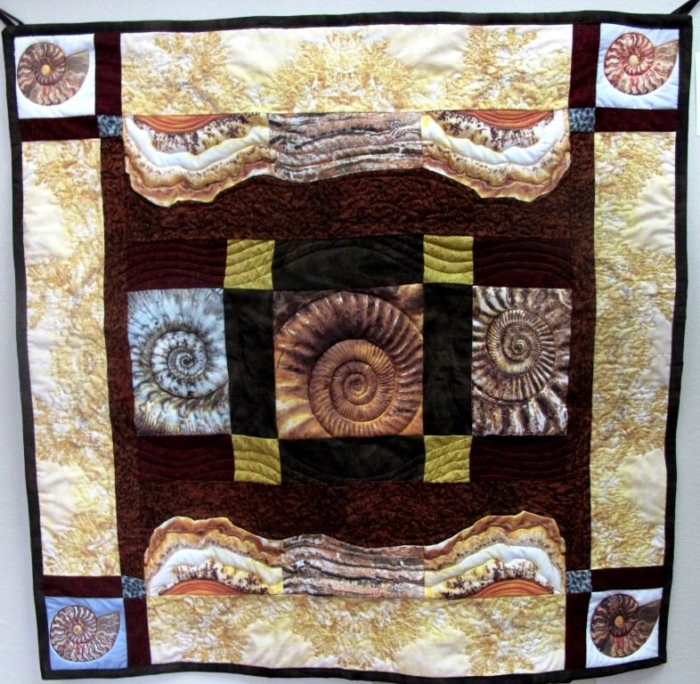 L Christensen Geological Gems Quilted Photo Wall Hanging   2016 compressed