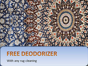 Free deodorizer when cleaning a rug