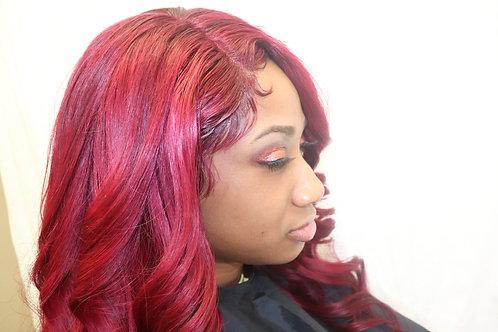 "20"" Whole lace wig custom color"