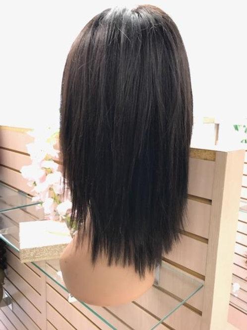 "10"" Brazilian Yaki Whole Lace Wig color#2"