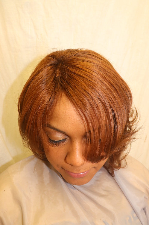 """10"""" Whole lace wig custom color n fit"""
