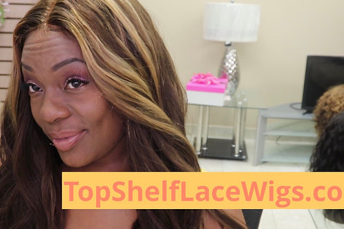 "18"" Middle Part Lace Wig Custom Style"