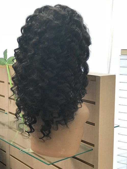 "14"" Virgin 360 Lace Wig Deep Wave color #2"