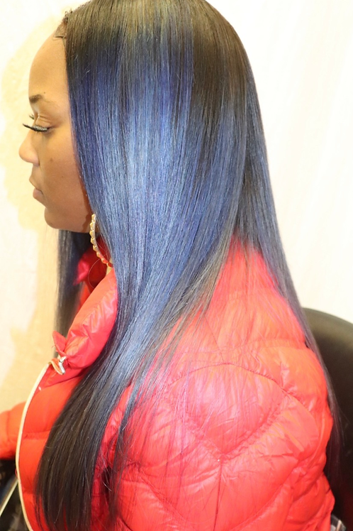 "22"" Lace Closure Styled unit"