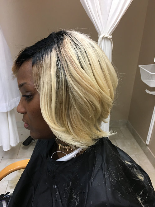 Lace Front Wig Blonde Bob