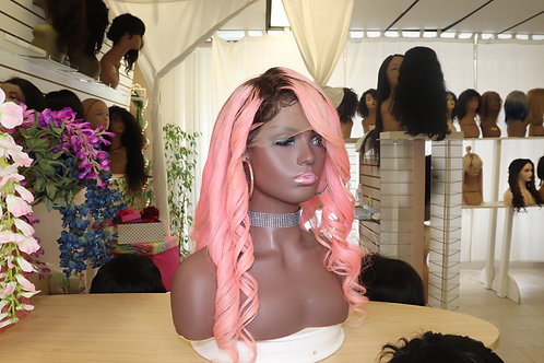 Pink Whole lace wig