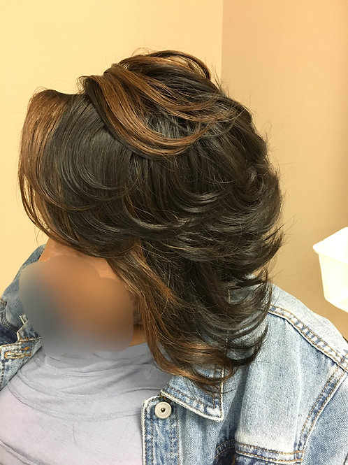 """Lace front Wig 14"""" Custom cut and color 150 density"""