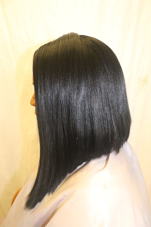 Synthetic Bob Cut Lace Front Wig