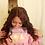 "Thumbnail: 18"" Lace wig color #4 body wave middle part"
