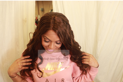 "18"" Lace wig color #4 body wave middle part"
