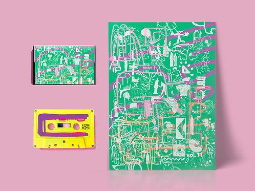 fita cassete (k7) + poster headnod mixtape