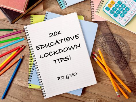 20 EDUCATIEVE LOCKDOWN TIPS