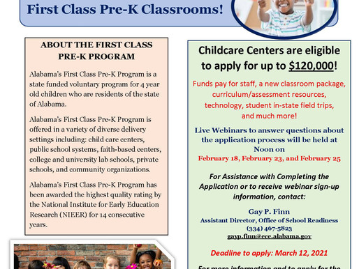 First Class Pre-K Childcare Outreach