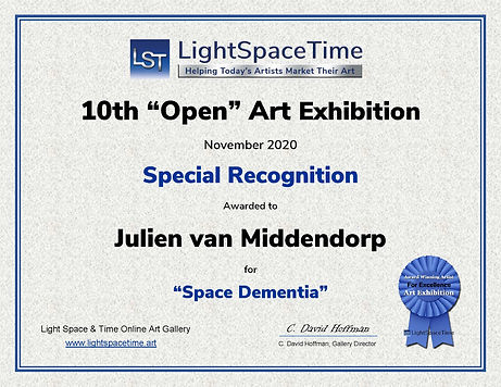 10th Open SR Awrd Certificate - Julien v