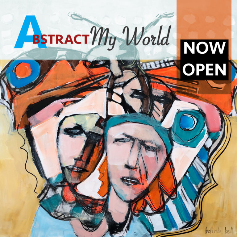 Abstract My World invitation