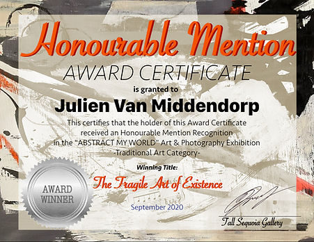 Honourable Mention Certificate Julien Va