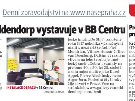 Julien van Middendorp vystavuje v BB Centru, Praha 4, nasepraha4.cz