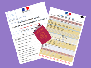"FRENCH RESIDENCE PERMIT ""PASSPORT-TALENT"""