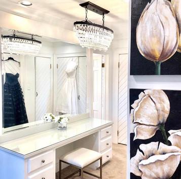 Vanity in the bridal suite
