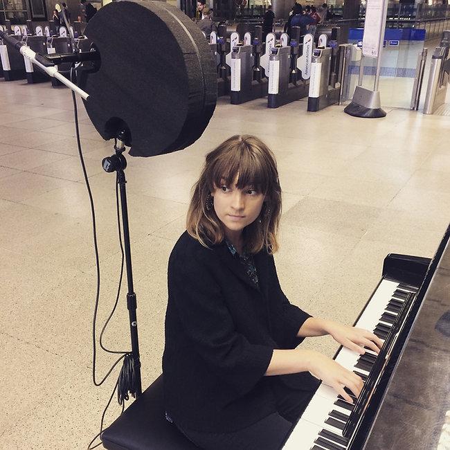 Lucy Claire, Recording Underground.JPG