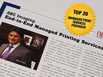 ABC Imaging Awarded Top Provider of Managed Print Services
