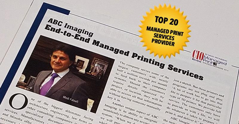 Managed Print Services (MPS) Top 20 Provider