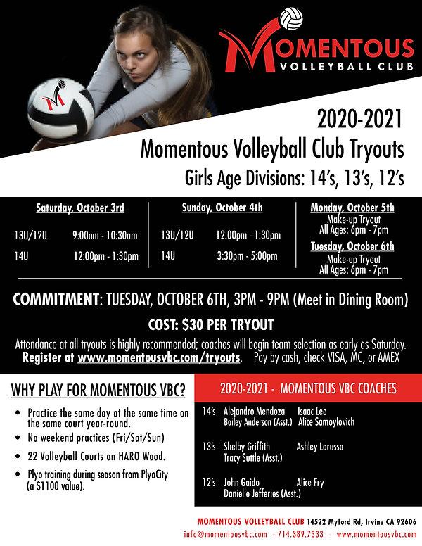 Tryouts - 2020-2021 - 14u - 2020.1003 (F