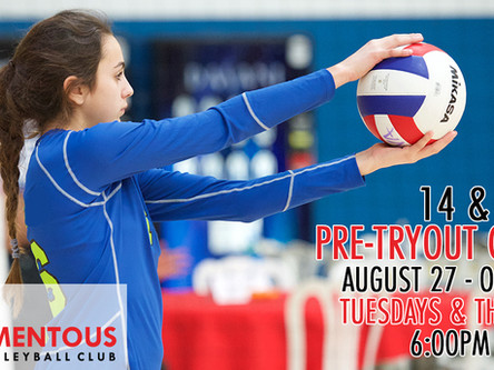 14 & Under Pre Tryout Clinics Announced!  (Tuesdays & Thursdays, August 27 - October 3)