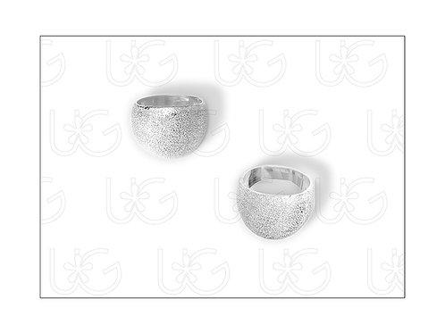 Anillo de plata fina .925 acabado mate diamantado