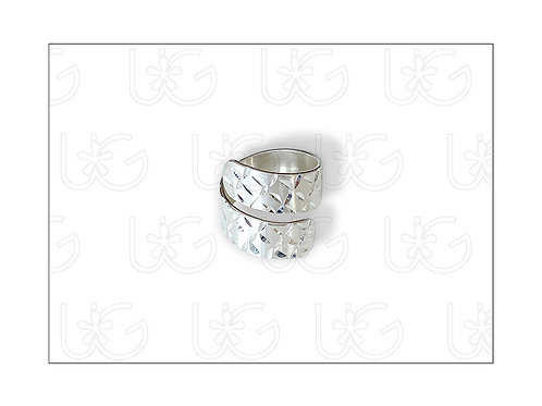 Anillo de plata fina .925 diamantado