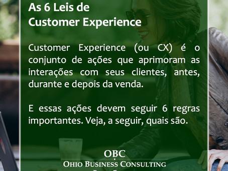 Conheça as 6 Leis de Customer Experience.