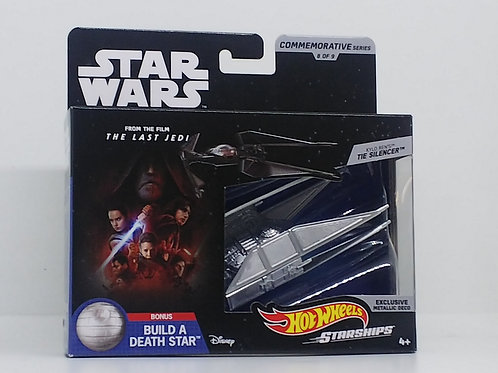 Star Wars Hot Wheels Commemorative Starships-Kylo Ren's TIE Silencer