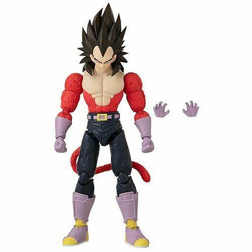 Super Saiyan 4 Vegeta Dragon Ball Stars Action Figure Wave 13 Case