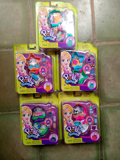 Mattel 2018 Polly Pocket Mini Compacts Dolphin Concert Ballet Scooter
