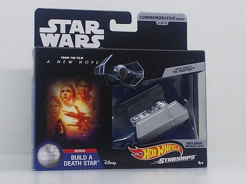 Star Wars Hot Wheels Commemorative Starships-Darth Vader's TIE Fighter