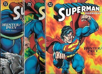 Superman Doomsday Hunter Prey #1 2 3 DC Graphic Novel TPB Prestige Comic Set 1-3