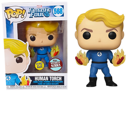 Fantastic Four Human Torch Suited Pop! Glow in the Dark Specialty Series