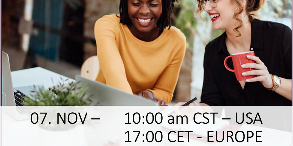 Getting Confidence Into My Journey - 10:00 am USA/CST or 17:00 Europe/ CET