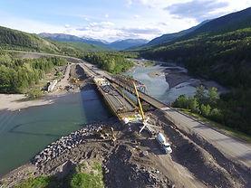 50m concrete pump - little smokey bridge ,PCL Grande Cac