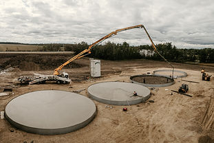 concrete pumping agricultural bin pads