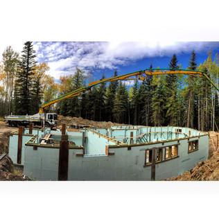 ICF walls, 36m pump 2015