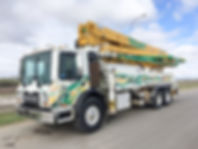 38m roll and fold concrete pump