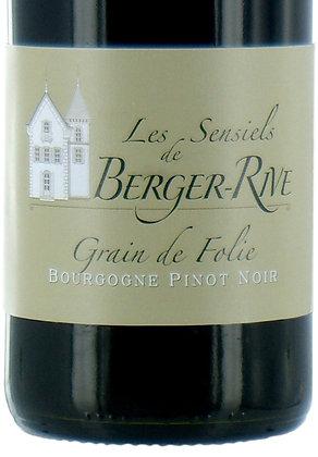 """Bourgogne Pinot Noir """"Grain de Folie"""" rouge 75cl"""
