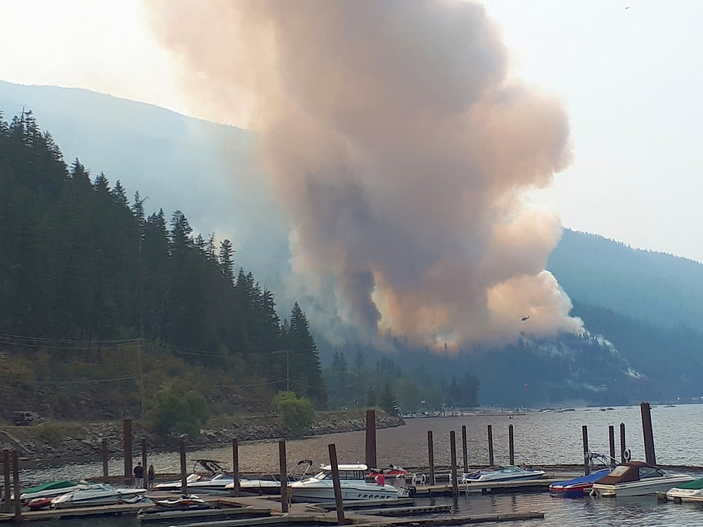 Beginning days of the fire at Two Mile Creek near Sicamous.