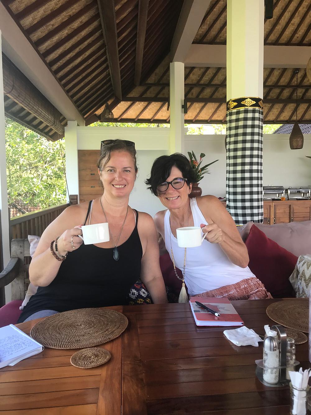 Jill and I in Bali Nirarta